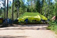 "Корпоративный шатер на берегу озера ""yellow"""