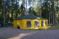 беседка барбекю  в Ленинградской области вблизи от города