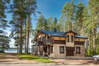 4х местные апартаменты с сауной и камином на озере