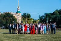 Выпускной 11 класс в центре Санкт-Петербурга